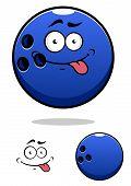 Colorful blue cartoon bowling ball