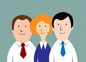 Cartoon business team