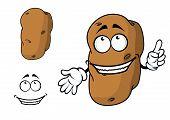 Happy goofy cartoon potato character