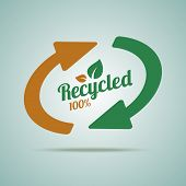 Recycled sign for organic products.