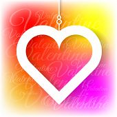 stock photo of applique  - Heart applique on colorful bright background - JPG