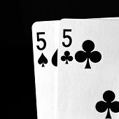 Black and white playing cards.