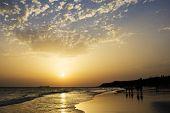 Sunset On The Beah Of La Barrosa