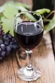 Red Wine With Fresh Grapes