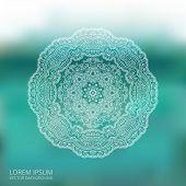 Circle Lace Ornament, Mandala, Blur Background
