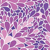 Seamless pattern. Foliate background in purple colors