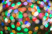 Multi Color Abstract  Bokeh Background Of Christmaslight