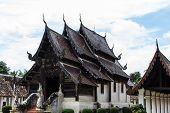 Wat Ton Kain ,old Teak Wooden Chapel In Chiangmai, Thailand