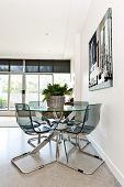 Dining table and chairs in loft apartment - artwork from photographer portfolio