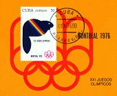 Vintage  Postage Stamp.  Summer Olimpics, Montreal.