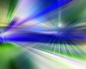 Abstract background in blue, green and purple colors