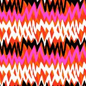 Striped hand drawn pattern with zigzag lines