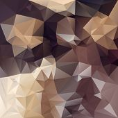 Vector Polygonal Background With Irregular Tessellations Pattern In Brown Colors