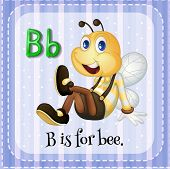 Flashcard of an alphabet B