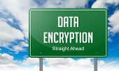 Data Encryption on Highway Signpost.