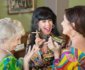 Laughing Middle Aged Women Smoking