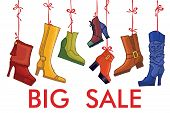Fashionable colored women's boots,shoes.Big sale