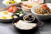 various lebanese plates / Mediterranean cuisine