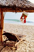 Christmas and new year holidays on the beach