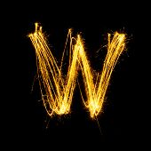 Sparkler Firework Light Alphabet W.