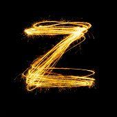 Sparkler Firework Light Alphabet Z.
