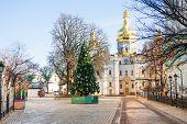stock photo of kiev  - View of Kiev Pechersk Lavra or Kyiv Pechersk Lavra - JPG