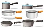stock photo of stelles  - Illustration of different cooking equipments - JPG