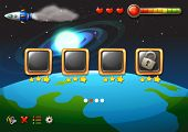 A video game showing the outerspace