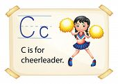 Illustration of a flashcard letter C