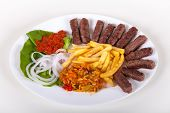 Grilled dish of minced meat taditional called cevapcici