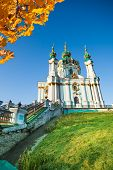 Beautiful daytime view of St Andrew's Church, Kiev