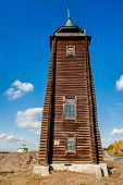 Wooden watchtower, 19th century. N.Sinyachikha
