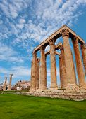 Beautiful view of Zeus temple in Greece at summer