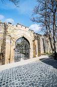 Old gates in Icheri Sheher, Baku Azerbaijan