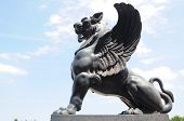 Winged Lion Sculpture