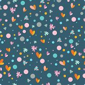 Bright Colored Flowers Seamless Pattern