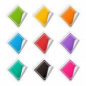 Vector realistic rhombus colorful Sticker set
