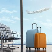 Suitcases in airport