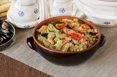 Cous Cous Whit Shrmps And  Vegetables
