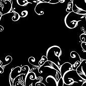 swirls and scrolls lace border