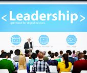 Leadership Management Leader Authority Seminar Conference Learning Concept