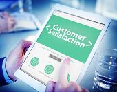 Business Online Customer Satisfaction Working Concept