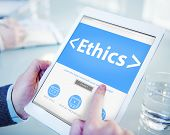 picture of morals  - Online Ethics Religion Morality Office Working Concept - JPG