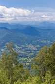stock photo of naturel  - Valley in the Pyrenees in Boussenac in France - JPG