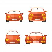 image of bantams  - Set of different vector passenger cars in flat style - JPG