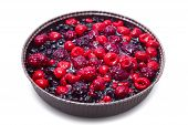 image of tort  - Close up of berry pie isolated on white - JPG