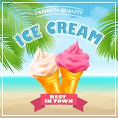picture of ice cream parlor  - Ice Cream Poster - JPG