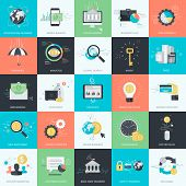 foto of internet icon  - Set of flat design style concept icons for graphic and web design - JPG