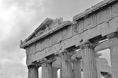 image of parthenon  - An exterior view of the ruins of the Parthenon - JPG