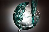 pic of crystal clear  - crystal glass with freeze blue water clear - JPG